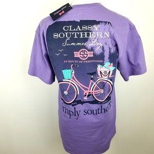 NWT Simply Southern shirt, sz M